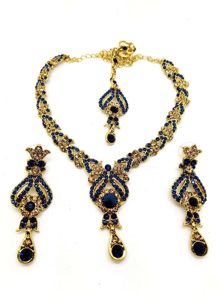 Prachy Creations : JAL 2008 - a.p 0516 - Bollywood Choker set, Navy