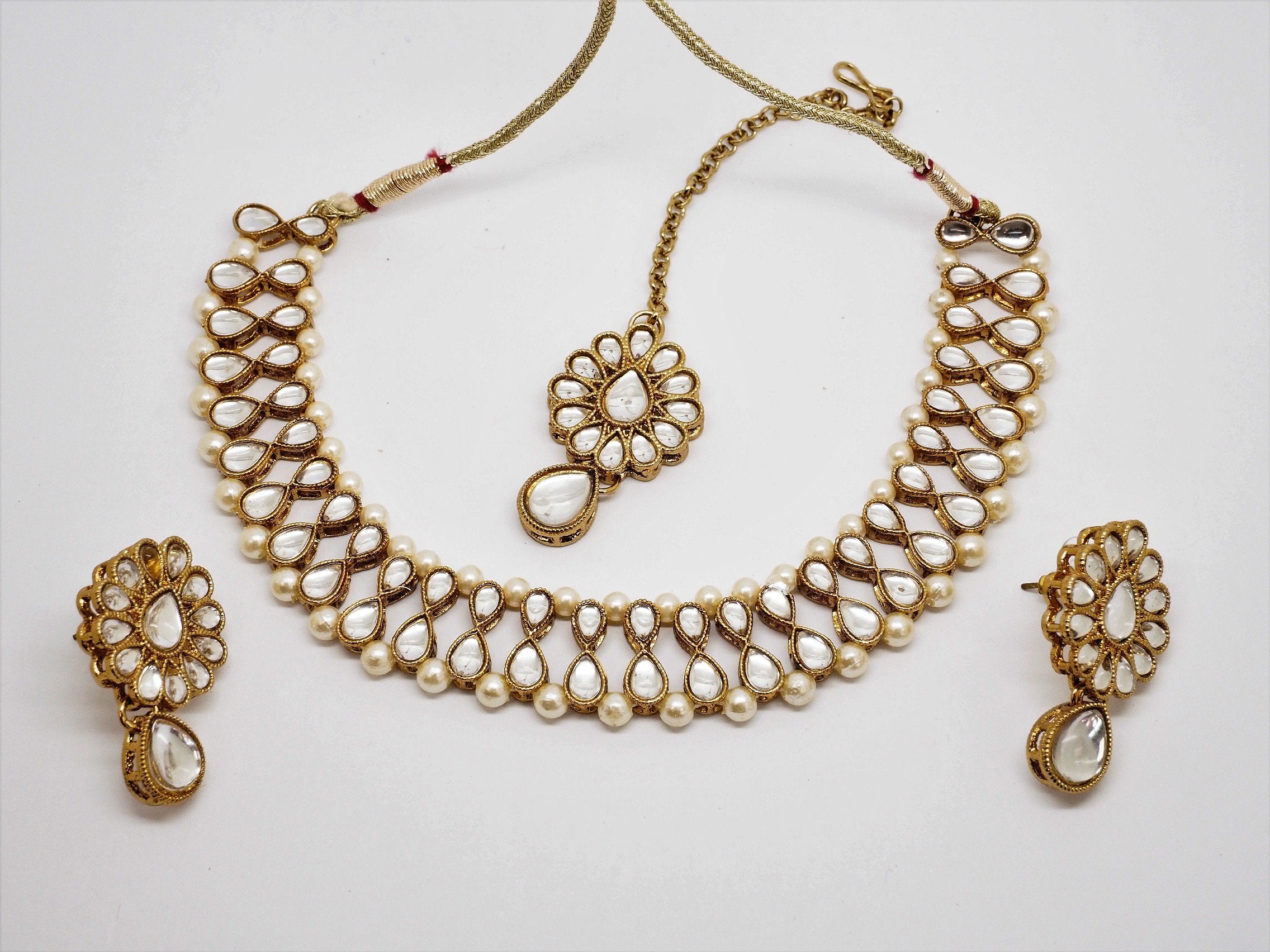 Bollywood Necklace set - Many Colours - Weddings - JIG1541 J0919 - Prachy Creations