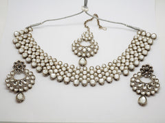 Bollywood Necklace set - Many Colours - Weddings - JIG1545 P0919 - Prachy Creations