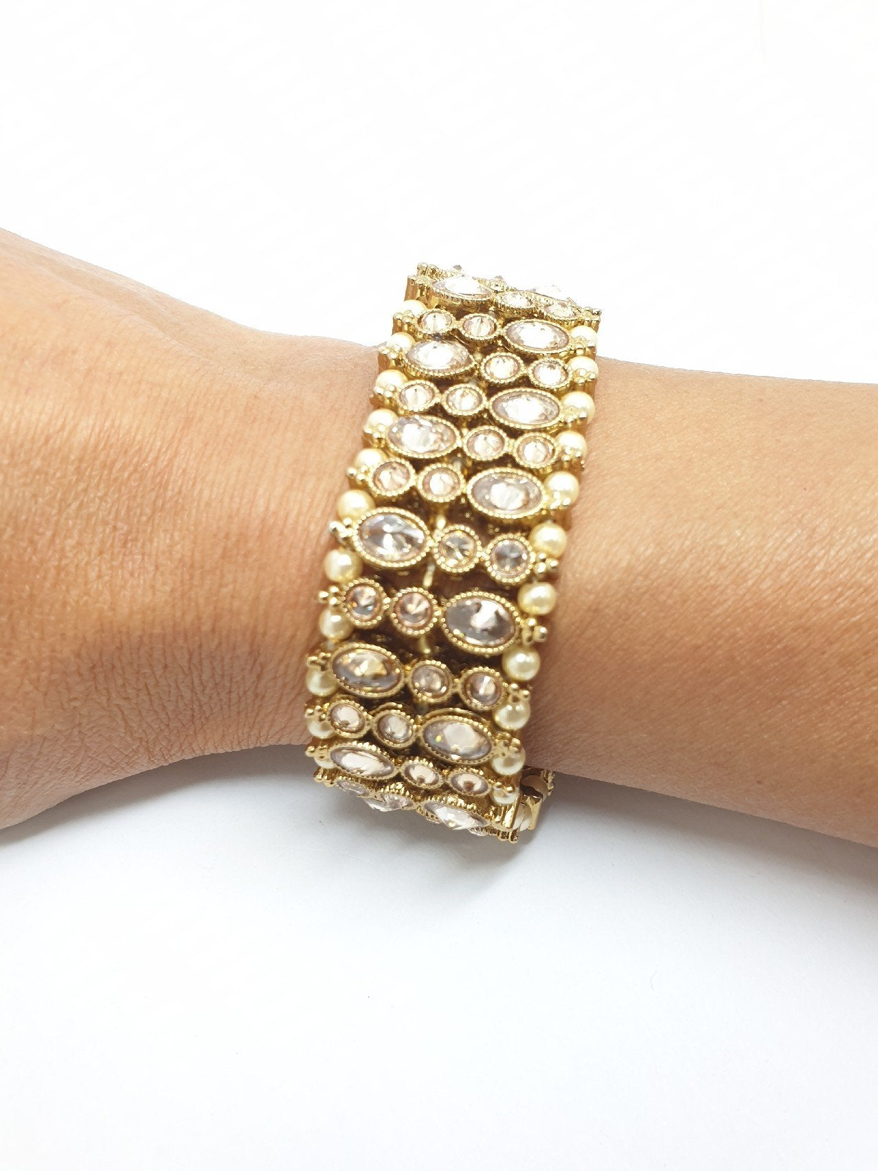 Soft Reverse Stone Bracelet - Fashion Jewellery - Bollywood - Weddings - JIG388R 0919 - Prachy Creations