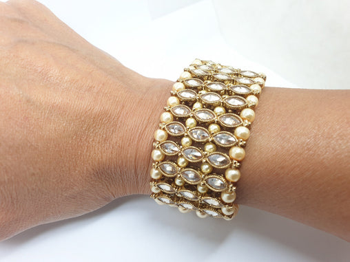 Soft Reverse Stone Bracelet - Fashion Jewellery - Bollywood - Weddings - JIG391P 0919