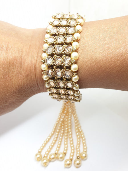Soft Reverse Stone Bracelet - Fashion Jewellery - Bollywood - Weddings - JIG399R 0919 - Prachy Creations