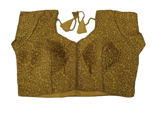 "Gold Brocade Ladies Saree Blouse - Size 36"" Bust (UK 10) Expandable to 40"" Bust (UK 14) JRT104T"