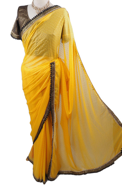 Georgette Chiffon Saree with Ready Blouse - KJF543KH