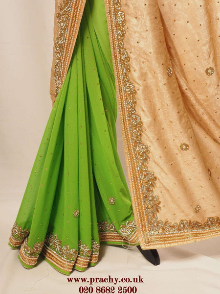 Prachy Creations : KV SEP 299 ay 0516 - Half N half Rich saree