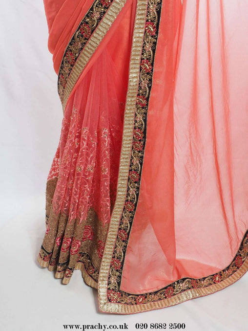 Prachy Creations : All INCL Pack - Half N Half net / Chiffon saree - Bollywood, Weddings - KV ee 2829 pp