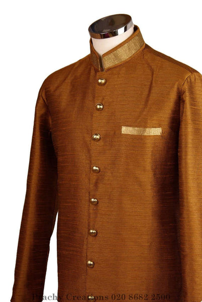 Prachy Creations : Perfect for Bollywood Party - Light Sherwani - Golden - Khabardar VK 0316