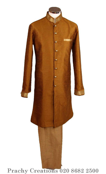 Perfect for Bollywood Party - Light Sherwani - Golden - Khabardar VK 0316 - Prachy Creations