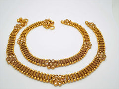 Pair of Ankle Chain / Payal / Pazeb - Fashion Jewellery - Bollywood - Weddings - LNA370A 1018 - Prachy Creations