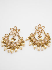 Reverse Stone Quality Antique Gold Finish Earrings - Bollywood - Fancy Dress - MNA218 Jp0919 - Prachy Creations