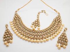 Choker necklace & Earrings set - Bollywood - Weddings - MNA248 KH0919