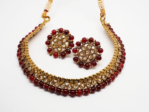 Bollywood Necklace set - Many Colours - Weddings - MNA261 Rp0919