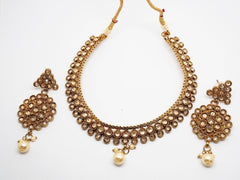 Reverse stone Choker necklace set - Bollywood - Weddings - MNA268 - KY0919 - Prachy Creations