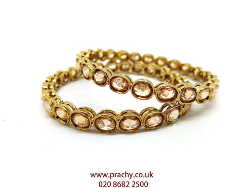 Prachy Creations : MNA46 jp - Pair of quality Reverse stone Bangles , Weddings, Bollywood