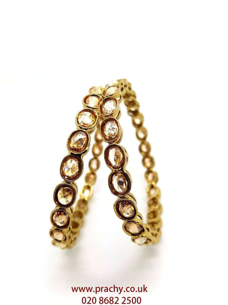 MNA46 jp - Pair of quality Reverse stone Bangles , Weddings, Bollywood - Prachy Creations