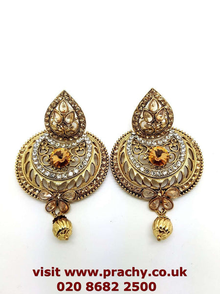 MY100 J 0217 - Antique finish earrings. - Prachy Creations