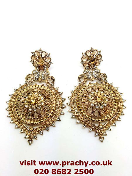 MY102 r 0217 - Antique finish earrings. - Prachy Creations
