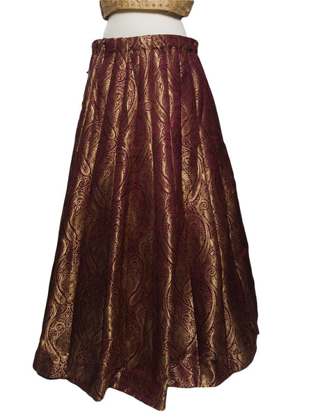Benarasi Handloom Brocade Wine / Maroon Lehnga Skirt only  - Mix N Match - KAM1901 TV1019