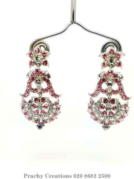 Prachy Creations : mj 1646 t 0616 - Earrings, Pink / Silver