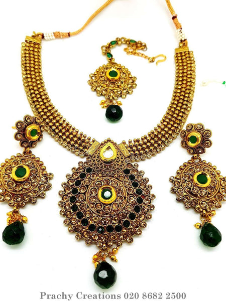 Prachy Creations : MNA 35 - ky 0516 - Choker set, Green