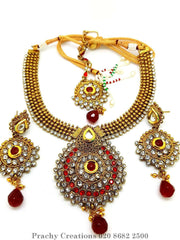 Prachy Creations : MNA 35 - ky 0516 - Choker set, Red