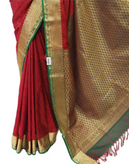 Handloom Banglori silky traditional saree with Ready Blouse - BollywoodParty - OF8214VT 0918 - Prachy Creations