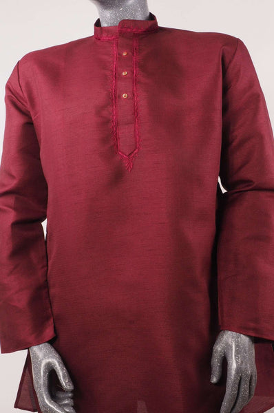 Aveo - Mens Maroon shirt - Kurta top - Ideal on a pair of jeans 0417