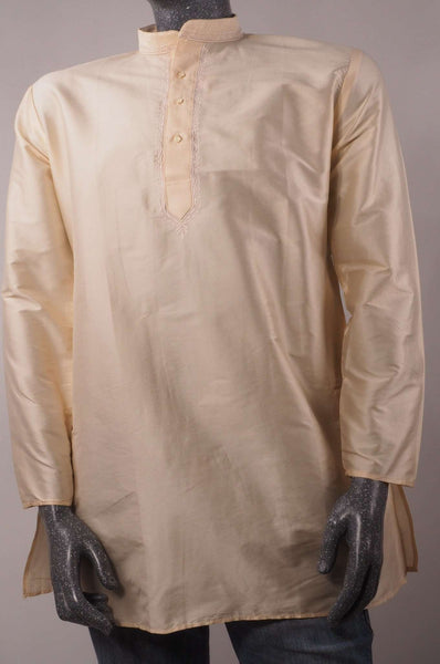 Prachy Creations : Adhish - Ivory Cream Kurta top - Indian shirt - Ideal on a pair of jeans A0718