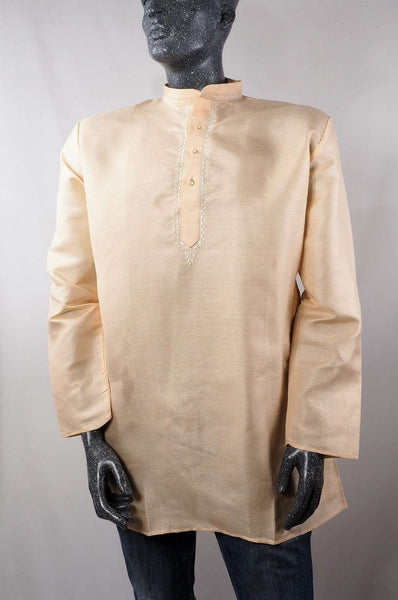 Prachy Creations : Aveo - Mens Cream shirt - Kurta top - Ideal on a pair of jeans 0417