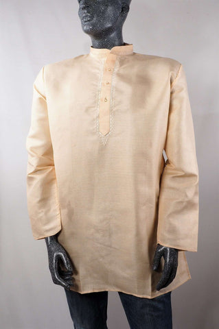 Aveo - Mens Cream shirt - Kurta top - Ideal on a pair of jeans 0417