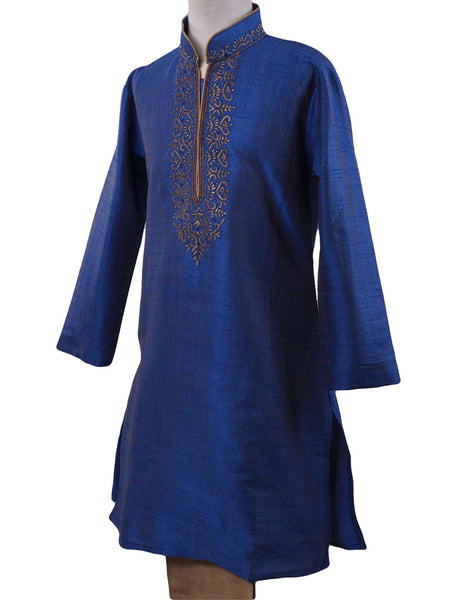 BollywoodParty - Boys Kurta set with pyjama trousers , Blue - Bolero KY0319 Size age six months onwards - Prachy Creations