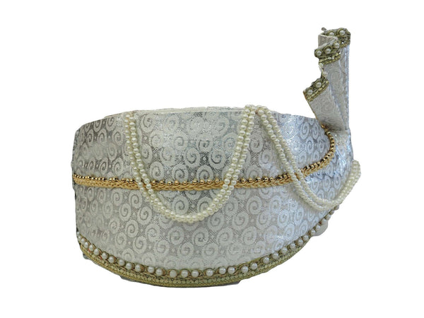 Groom / Party Silver Turban for Bollywood, Fancy dress, Weddings - PC634  08KV17