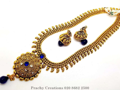 Prachy Creations : PRI 451 - h 0516 -Traditional Indian antique finish, Blue