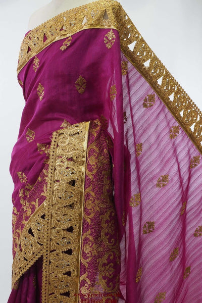 Prachy Creations : PTC 1101 - Pary wear saree - tv 0516, Purple