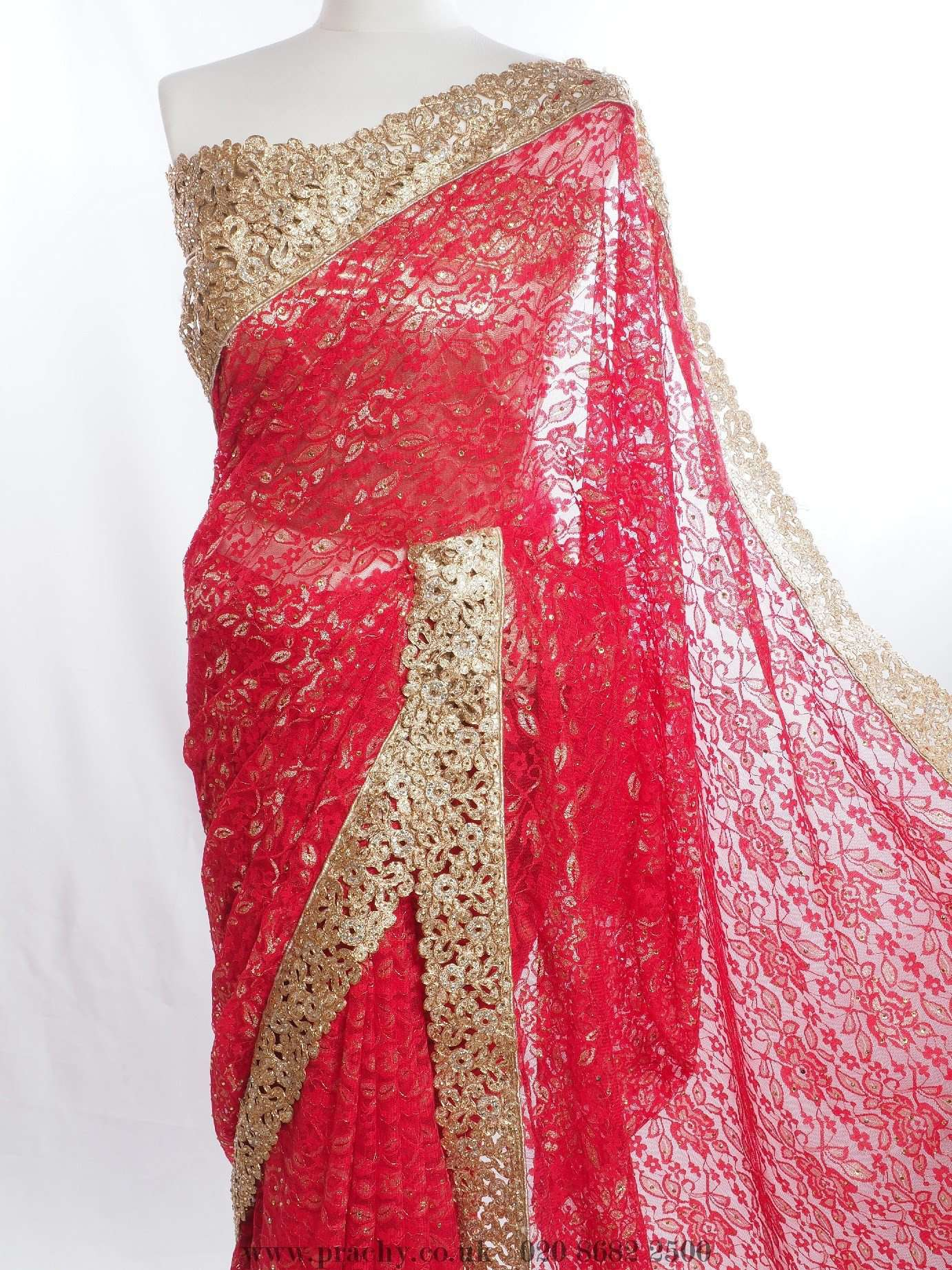 Lace saree for Bollywood Party, Weddings - PTC 936 - tp 0516 - Prachy Creations