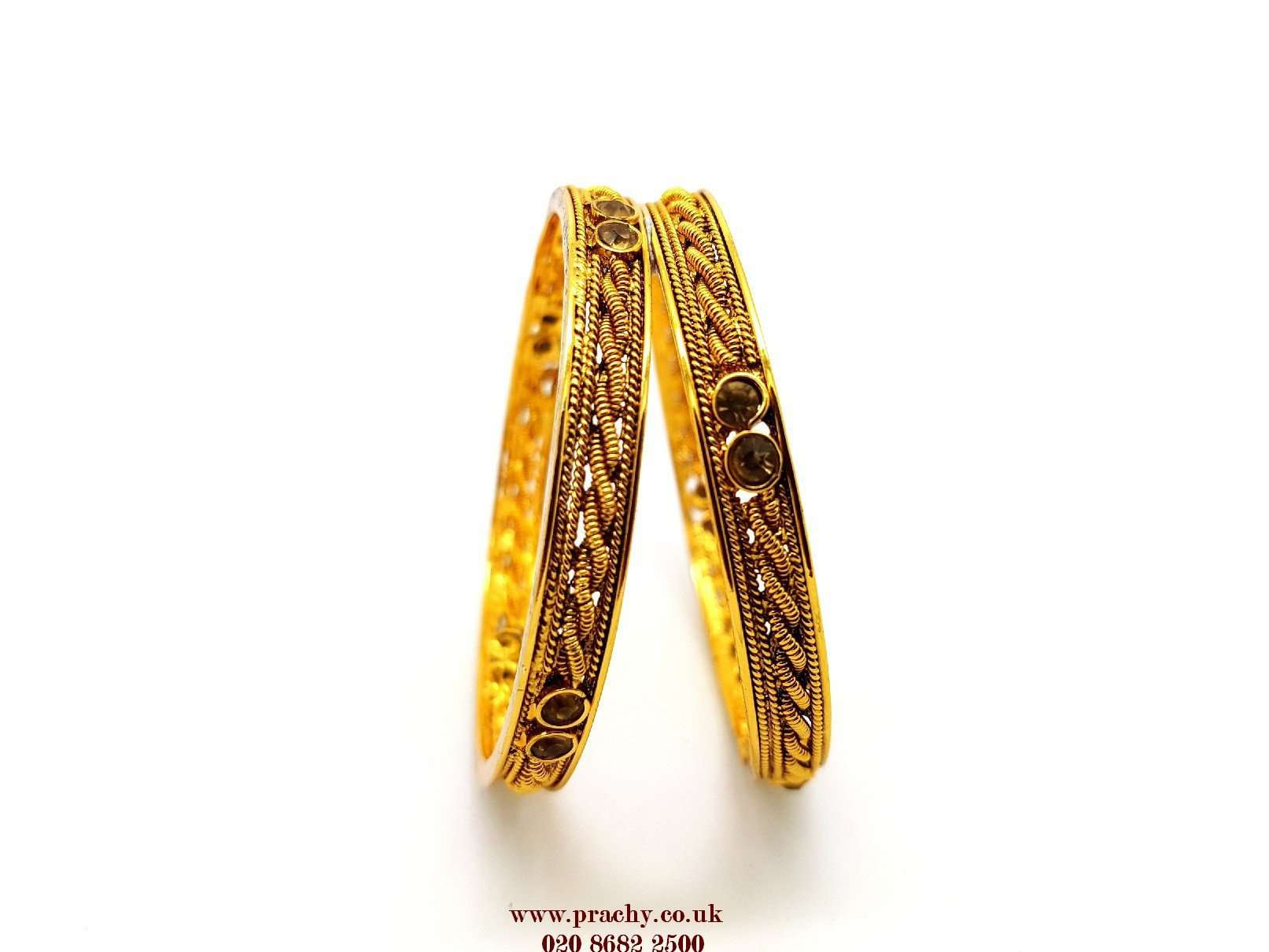RA 132 kp 0217 - Antique Girls Bangles - (Pair) - Prachy Creations