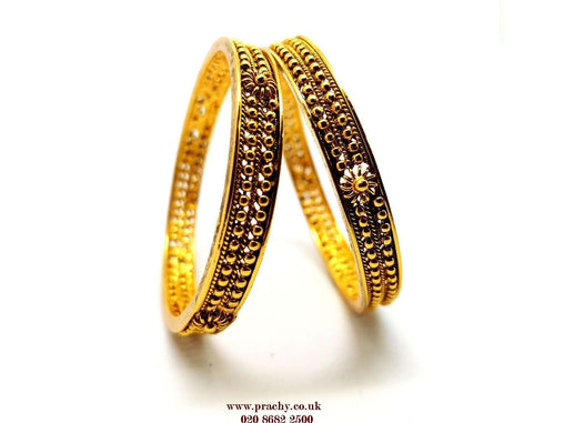 Prachy Creations : RA 134 kp 0217 - Antique Girls Bangles - (Pair)
