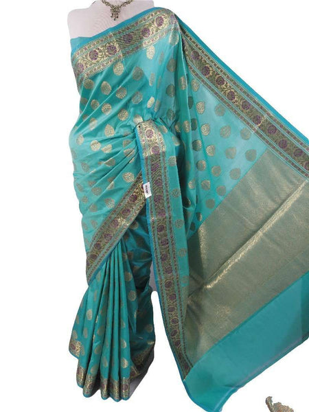 Prachy Creations : Benarasi Handloom Silky saree - with Blouse Piece - SN1901 VY0419