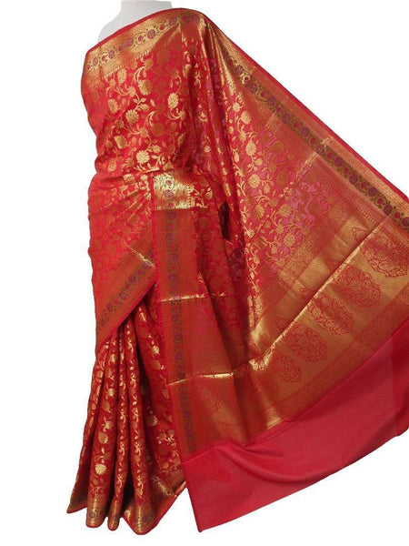 Benarasi Handloom Silky saree - with Blouse Piece - SN1902 VY0419 - Prachy Creations