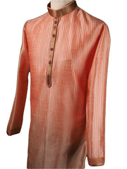 Pin tucks Pink Mens Kurta set - Bollywood, Weddings, Fancy Dress - SNC5812VA-PNK