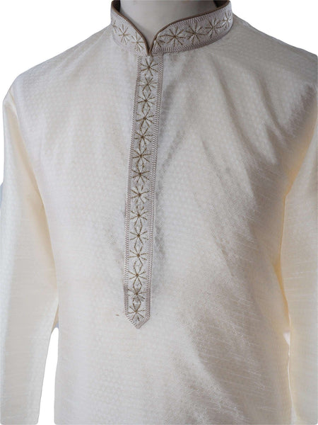 Prachy Creations : Cream Mens Kurta set - Bollywood, Weddings, Fancy Dress - SNC581VY-CRM