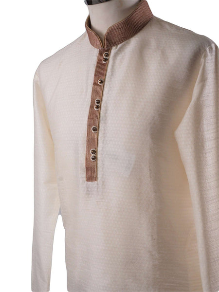 Prachy Creations : Cream Mens Kurta set - Bollywood, Weddings, Fancy Dress - SNC586VT-CRM