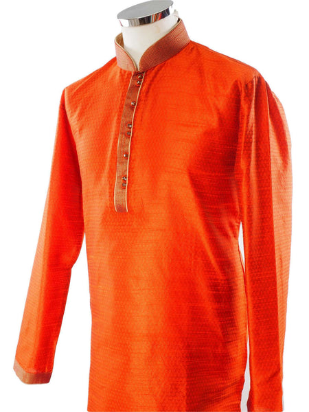 Prachy Creations : Rust Mens Kurta set - Bollywood, Weddings, Fancy Dress - SNC586VT-RST