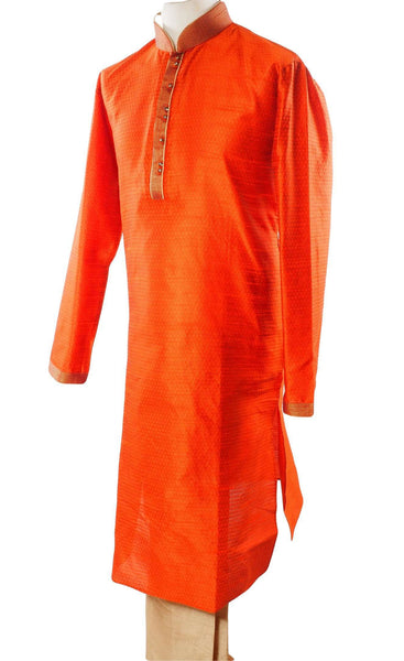 Rust Mens Kurta set - Bollywood, Weddings, Fancy Dress - SNC586VT-RST
