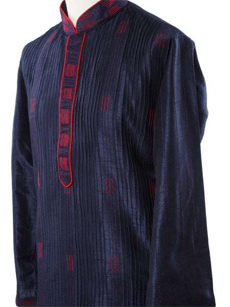 Prachy Creations : Mens Kurta set in Navy - Bollywood, Weddings, Fancy Dress - SNC588VT-NAV