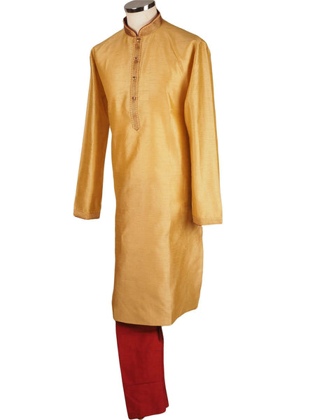 Prachy Creations : Bollywood Mens Kurta set - Gold Cream - Bollywood, Weddings, Fancy Dress - SNC8612 1018