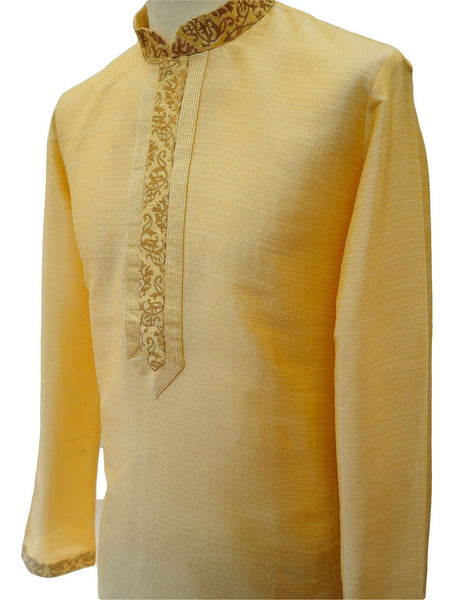 "Prachy Creations : Bollywood Mens Kurta set - Cream - Bollywood, Weddings, Fancy Dress - SNC8647KR 1018, 38"" / Cream"