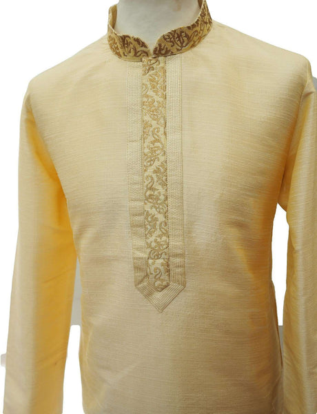 Bollywood Mens Kurta set - Cream - Bollywood, Weddings, Fancy Dress - SNC8647KR 1018
