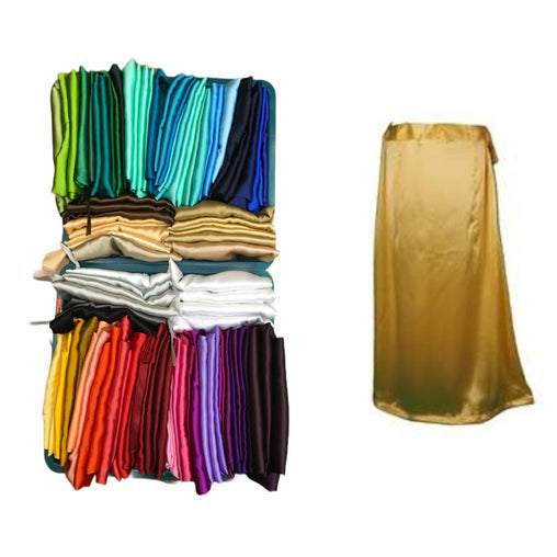 0005 Premium Satin Silk Saree underskirt / Petticoat, draw srtinged.