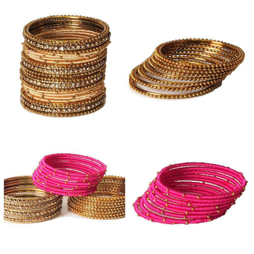 Simmba - Girls Thread Bangle sets - 20 bangles - Great quality - GG1901V - Prachy Creations